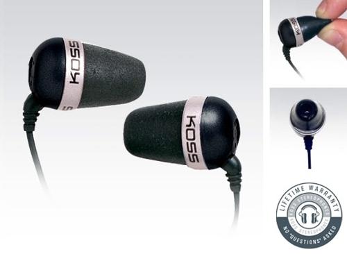 Sluchátka Koss The Plug (doživotní záruka) - černá