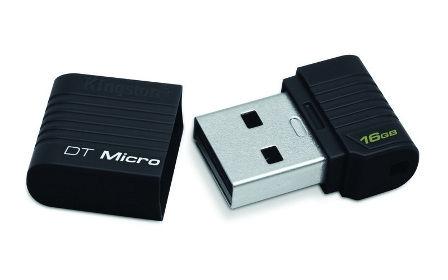 Flash USB Kingston DataTraveler Micro 16GB USB 2.0 - černý