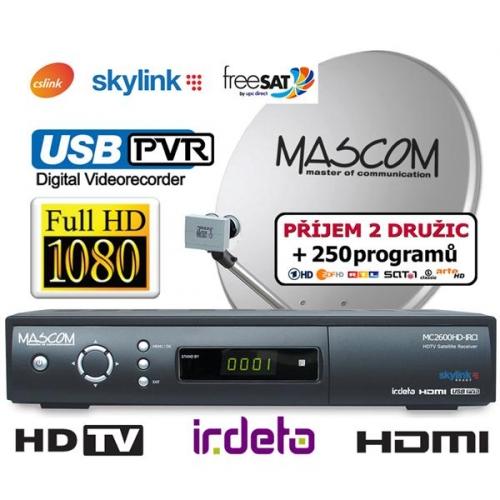 Satelitní komplet Mascom MC2600/80MBL