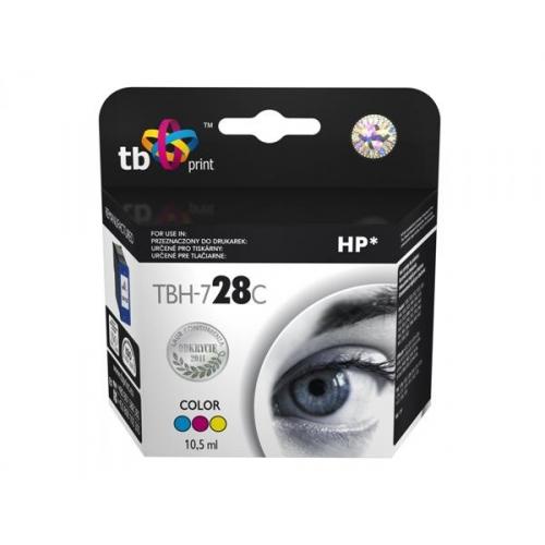 Inkoustová náplň TB HP C8728AE (No.28) Color kompatibilní - červená/modrá/žlutá