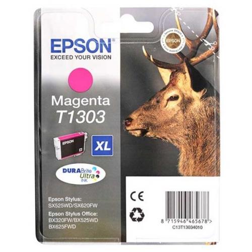 Inkoustová náplň Epson T1303, 10ml originální - červená