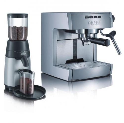 Set výrobků GRAEF espresso ES 70 + kávomlýnek CM 70