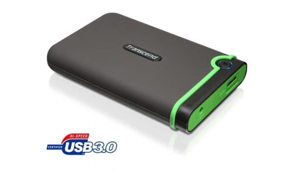 """HDD ext. 2,5"""" Transcend StoreJet 25M3 1TB - šedý/zelený"""