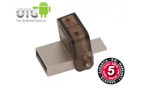 Flash USB Kingston DataTraveler MicroDuo 16GB OTG USB 2.0 - hnědý