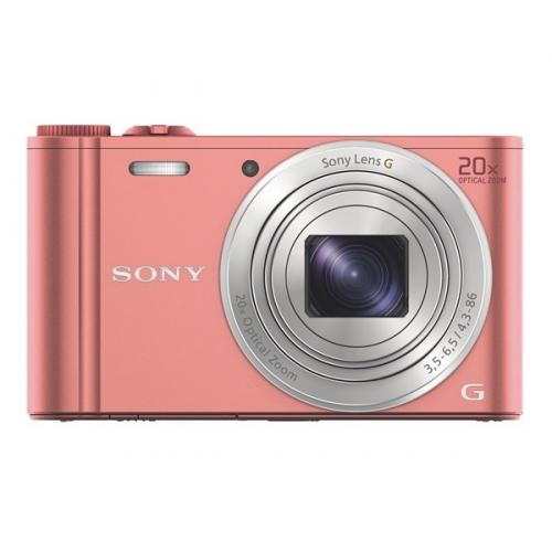 Fotoaparát Sony DSC-WX350 růžový