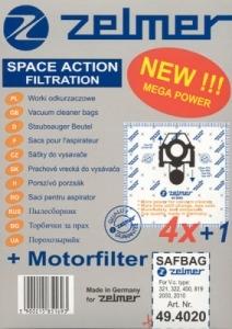 Filtr Zelmer A 49.4000 (4+1) SAF-BAG - 2000, 2010 do vysav. (ZVCA100B)