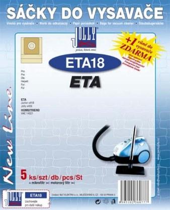 Filtr Jolly ETA 18 (5+1+1ks) do vysav. ETA