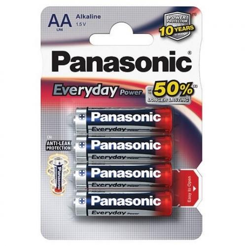 Baterie alkalická Panasonic AA, LR6, Everyday, blistr 4ks