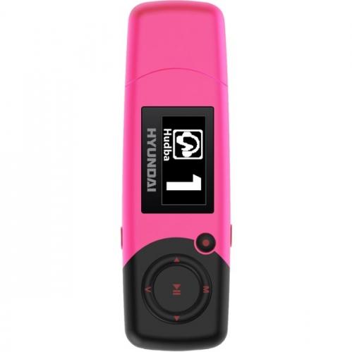 MP3 přehrávač Hyundai MP 366 FM, 4GB, růžový