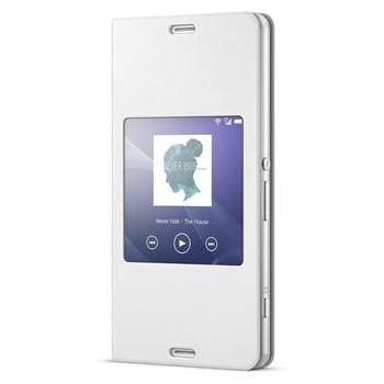 Pouzdro na mobil flipové Sony pro Xperia Z3 Compact - bílé