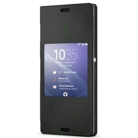 Pouzdro na mobil flipové Sony pro Xperia Z3 Compact - černé