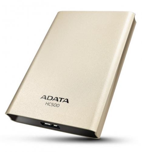 """HDD ext. 2,5"""" A-Data HC500 1TB - zlatý"""