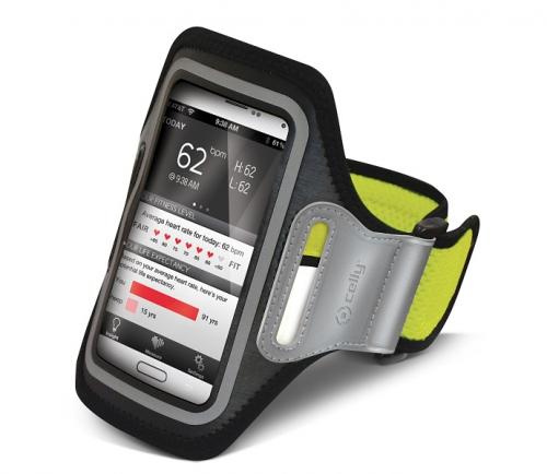 Pouzdro na mobil sportovní Celly Airband XXL - žluté