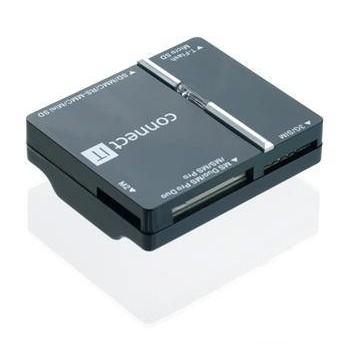 Čtečka paměťových karet Connect IT USB + SIM, WAVE černá