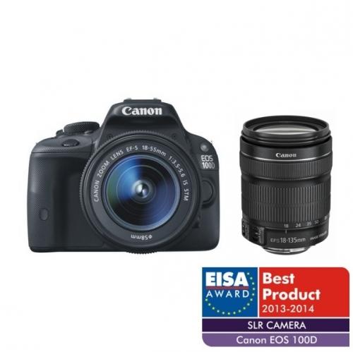 Fotoaparát zrcad. Canon EOS 100D + EF-S 18-135 IS STM