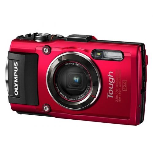Fotoaparát Olympus TG-4, červený