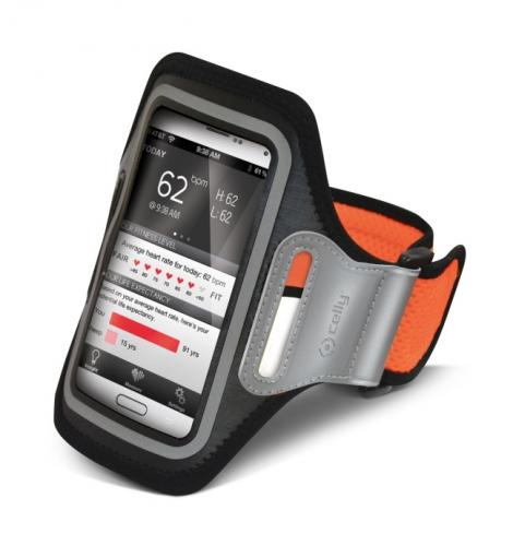 Pouzdro na mobil sportovní Celly Airband XXL - oranžové