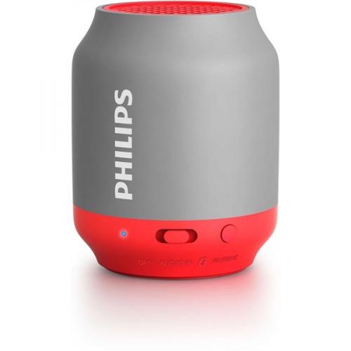 Přenosný reproduktor Philips BT50G, červený/šedý