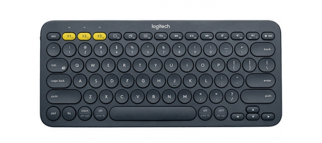 Klávesnice Logitech K380 Bluetooth, US - modrá
