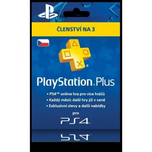 Předplacená karta Sony PlayStation Plus Card 90 dní - pouze pro CZ PS Store