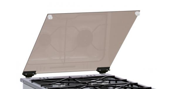 Příklop skleněný Mora (254222) tmavý, ke sporákům š. 50cm INOX LOOK design - mimo nerez modely