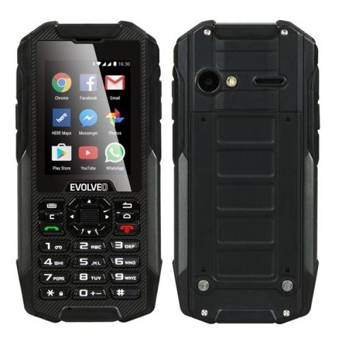 Mobilní telefon Evolveo StrongPhone X4, vodotěsný odolný Android smartphone s klávesnicí - černý